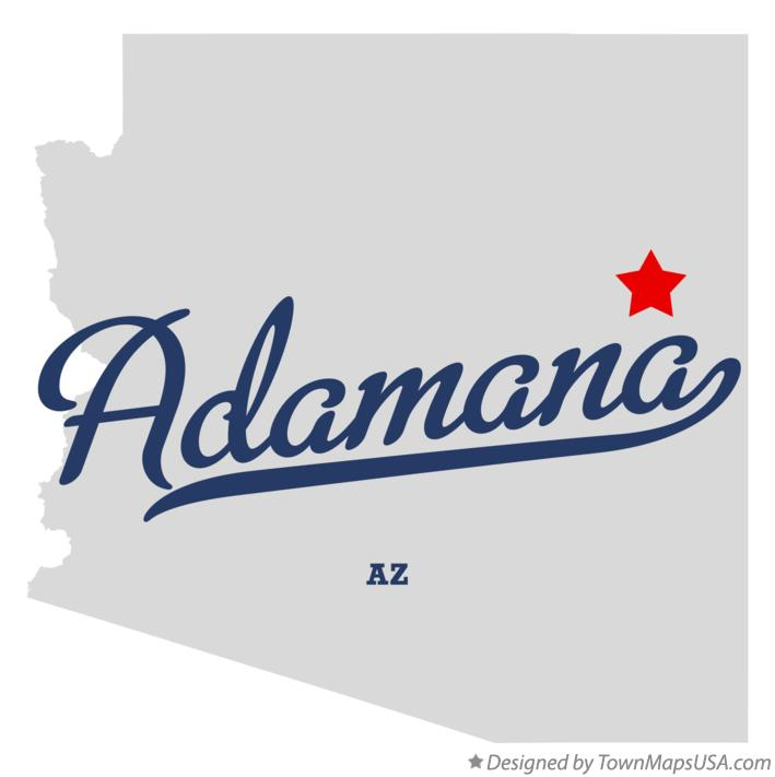 Map of Adamana Arizona AZ