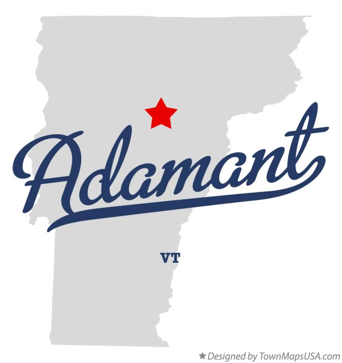 Map of Adamant Vermont VT