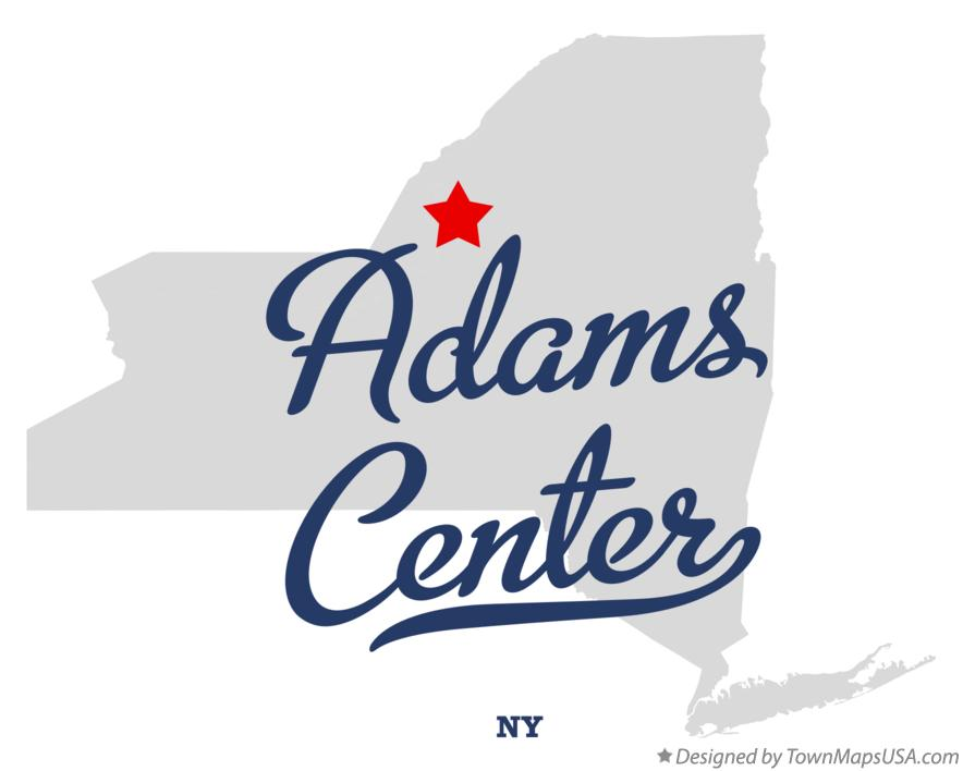Map of Adams Center New York NY