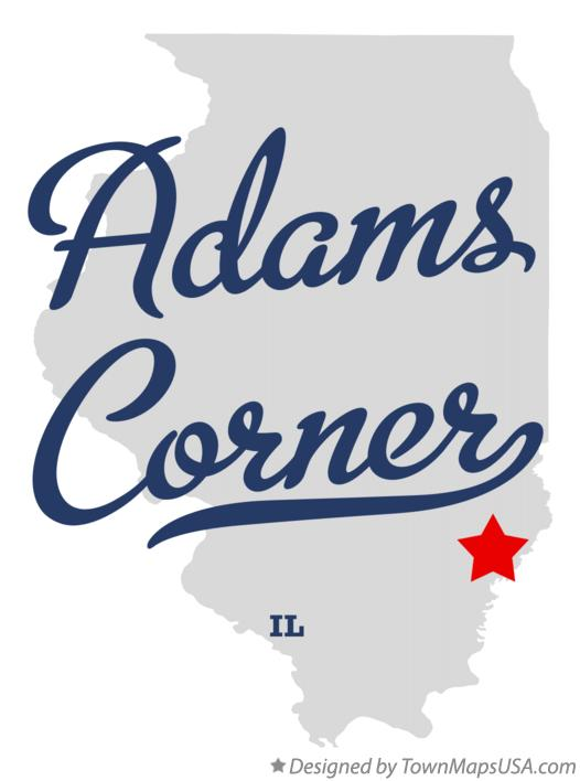 Map of Adams Corner Illinois IL