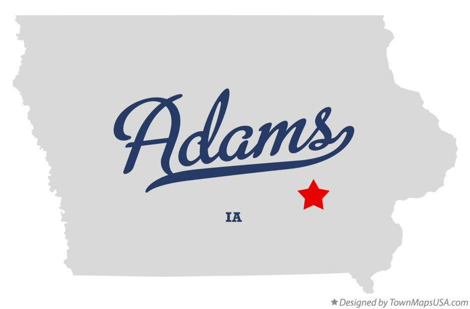Map of Adams Iowa IA