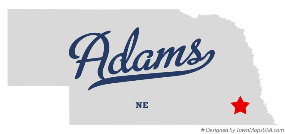 Map of Adams Nebraska NE