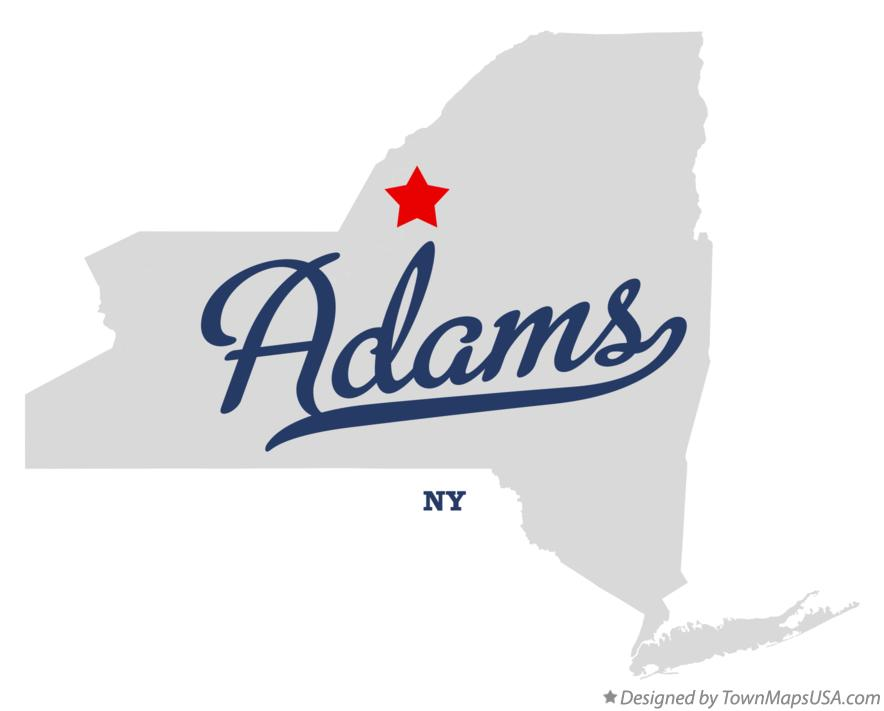 Map of Adams New York NY