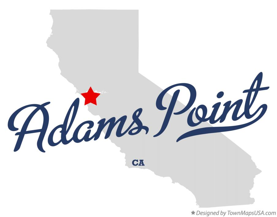Map of Adams Point California CA