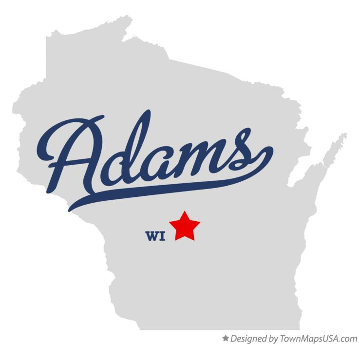 Map of Adams Wisconsin WI