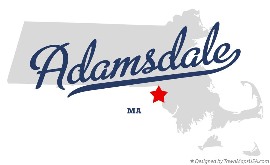 Map of Adamsdale Massachusetts MA