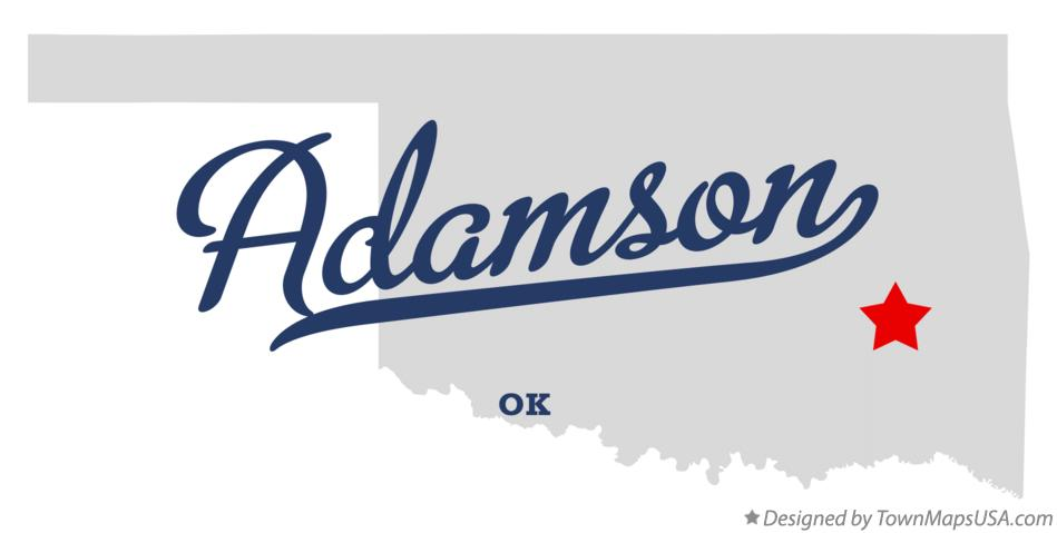 Map of Adamson Oklahoma OK