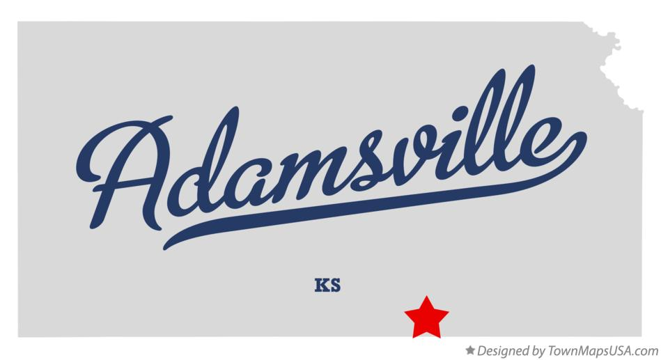 Map of Adamsville Kansas KS
