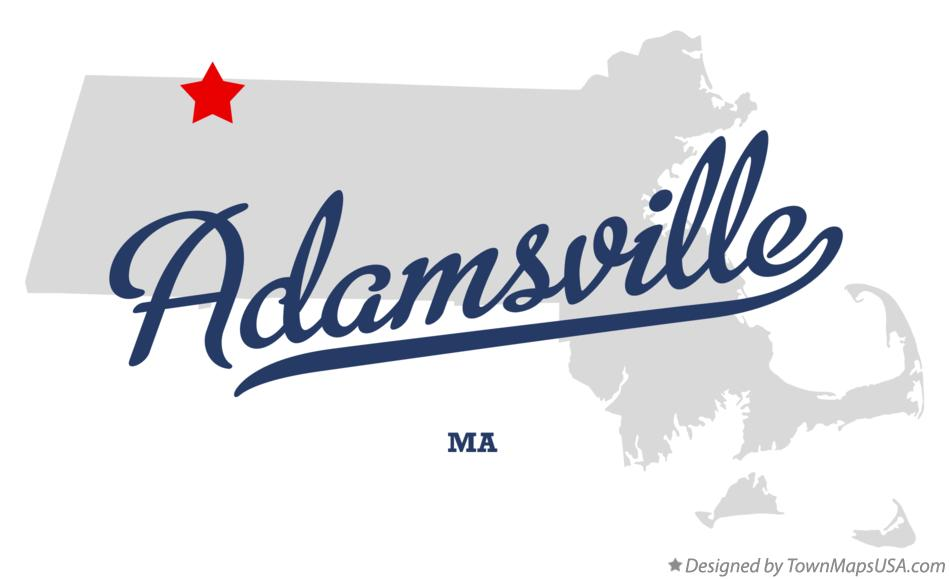 Map of Adamsville Massachusetts MA