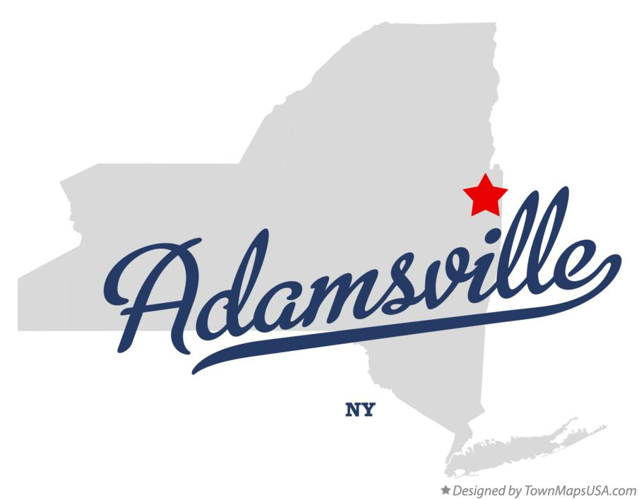 Map of Adamsville New York NY