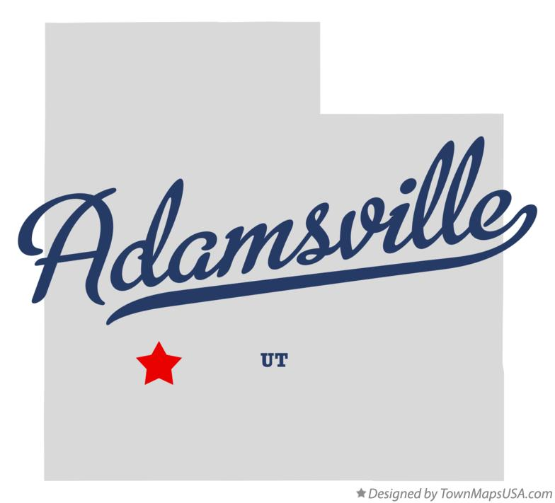 Map of Adamsville Utah UT