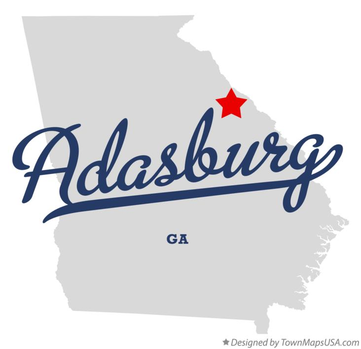 Map of Adasburg Georgia GA