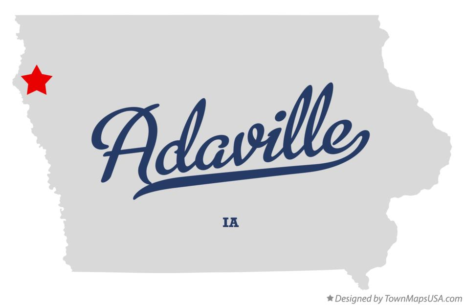 Map of Adaville Iowa IA
