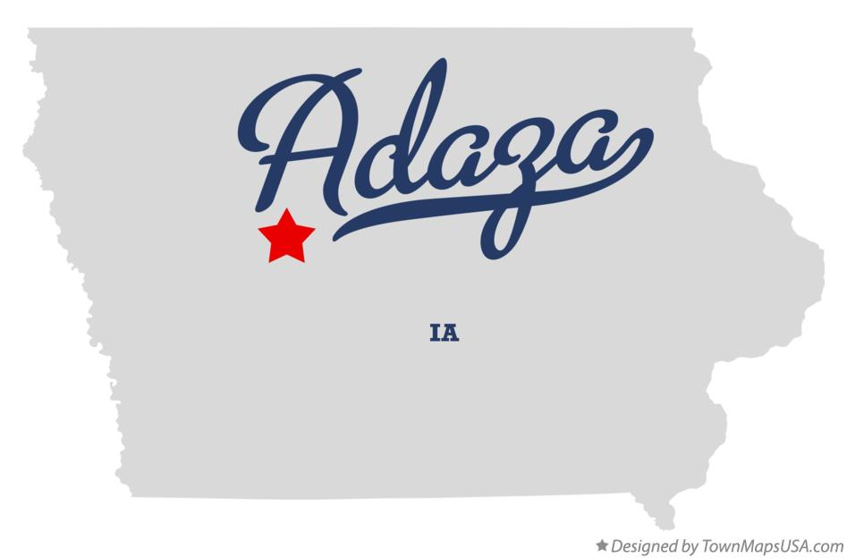 Map of Adaza Iowa IA