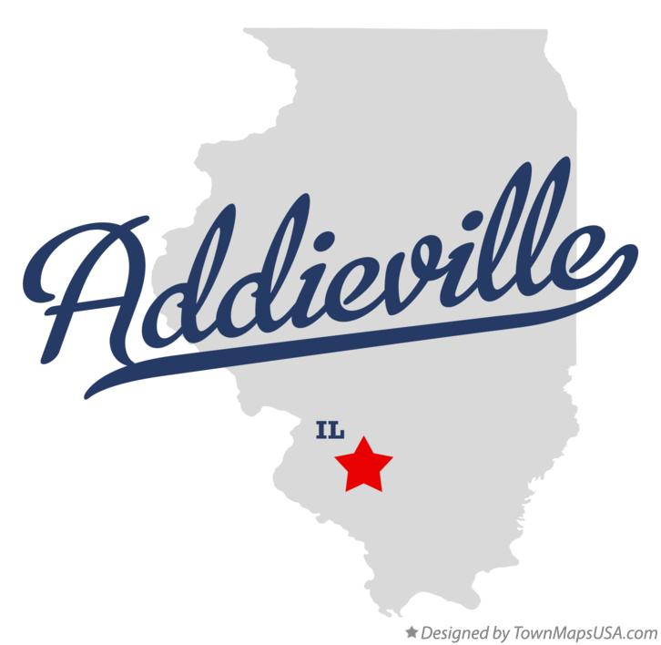 Map of Addieville Illinois IL
