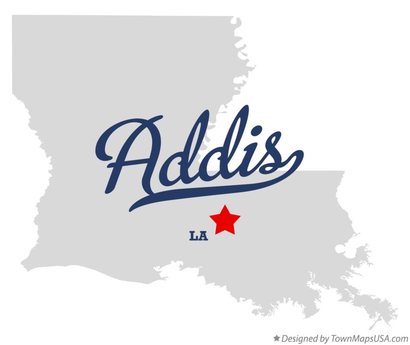 Map of Addis Louisiana LA