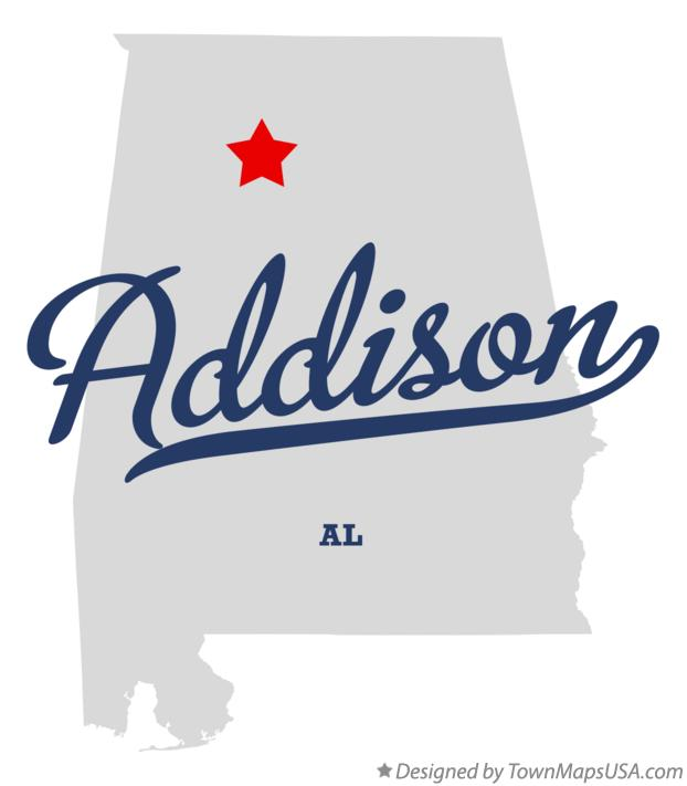Map of Addison Alabama AL