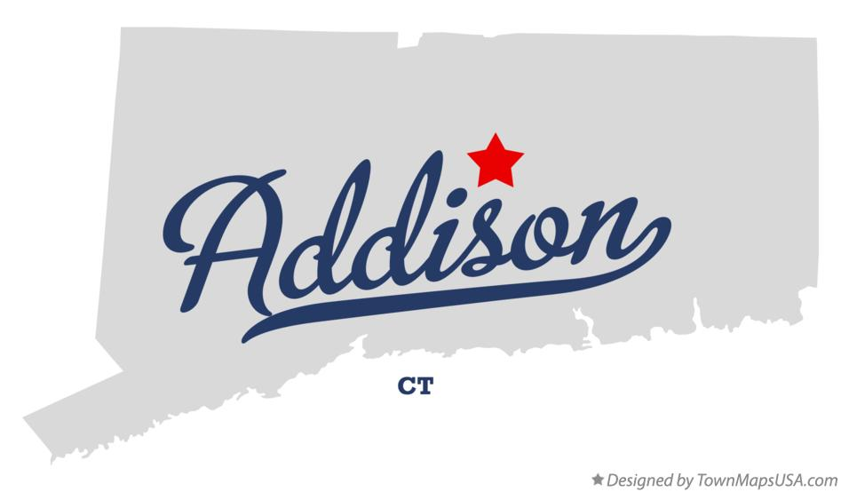 Map of Addison Connecticut CT