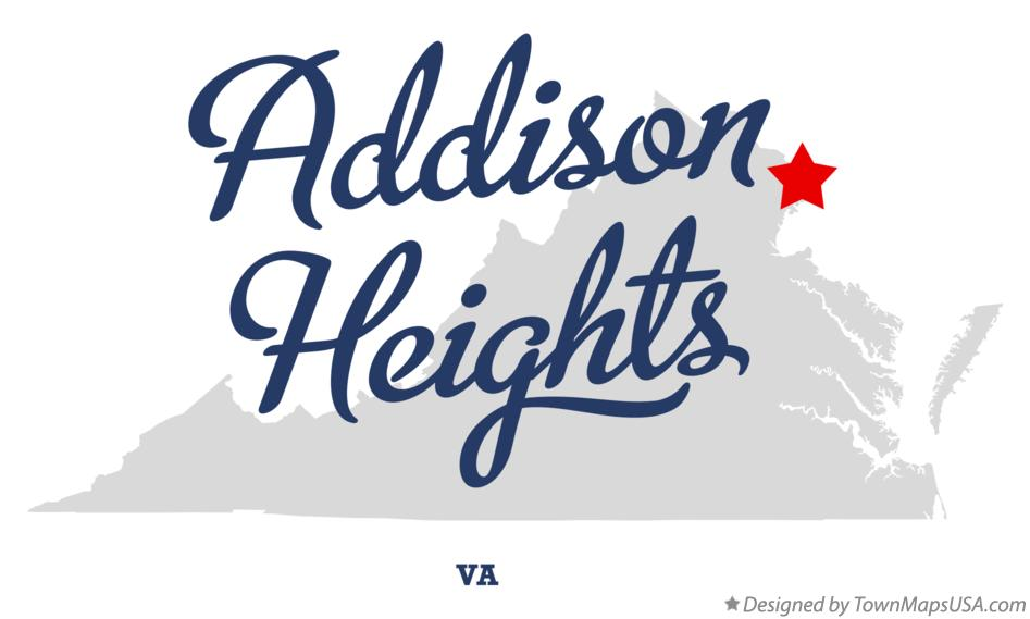 Map of Addison Heights Virginia VA