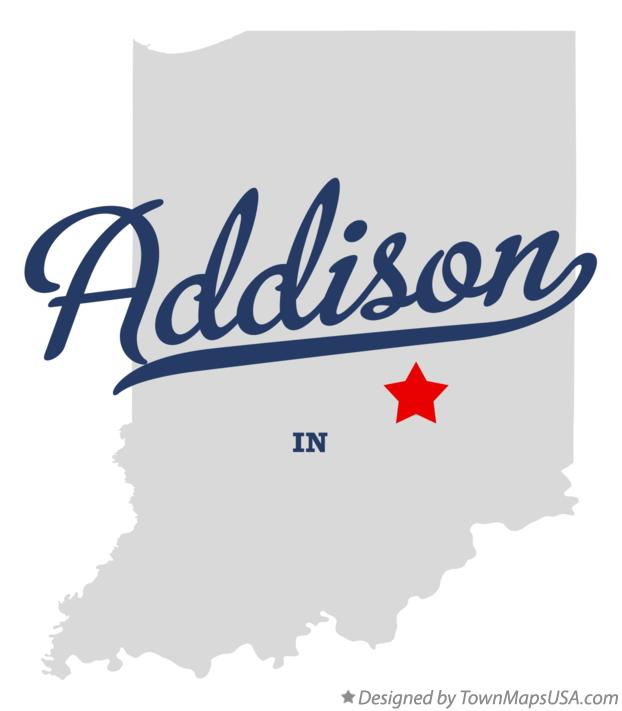 Map of Addison Indiana IN