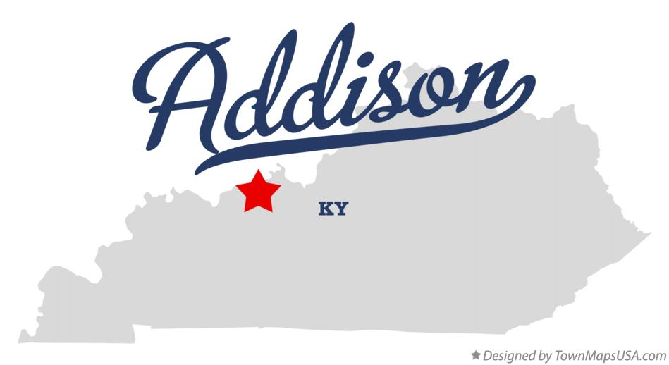 Map of Addison Kentucky KY