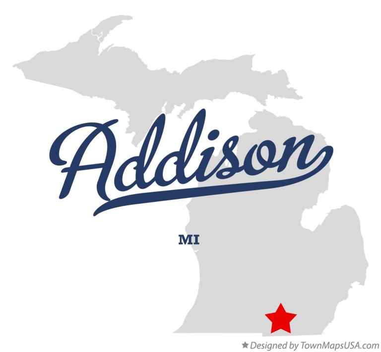 Map of Addison Michigan MI