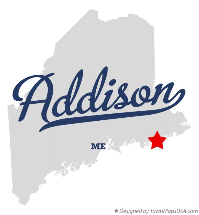 Map of Addison Maine ME