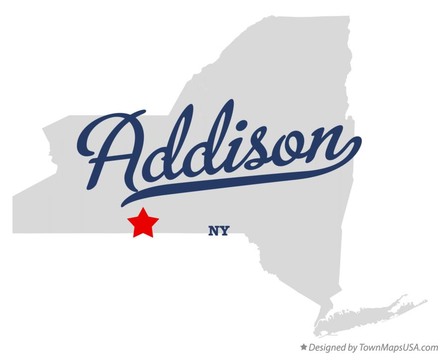 Map of Addison New York NY