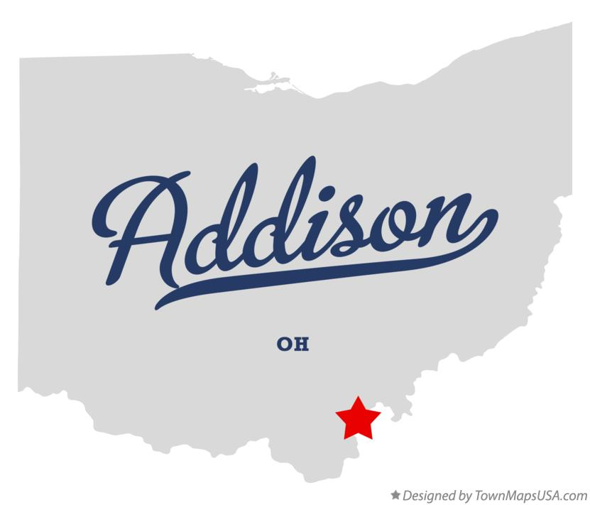 Map of Addison Ohio OH