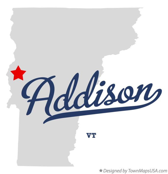 Map of Addison Vermont VT