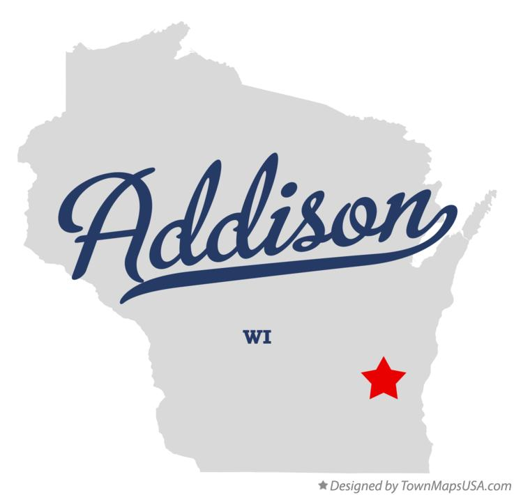 Map of Addison Wisconsin WI