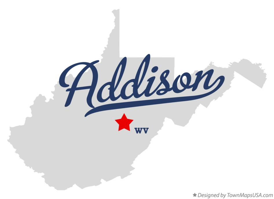 Map of Addison West Virginia WV