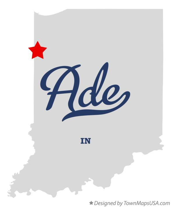 Map of Ade Indiana IN