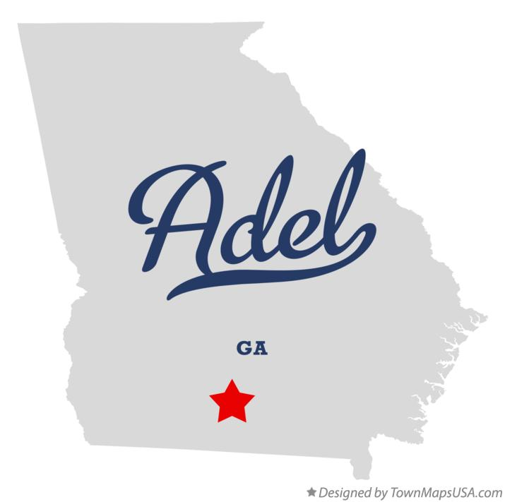 Map of Adel, GA, Georgia