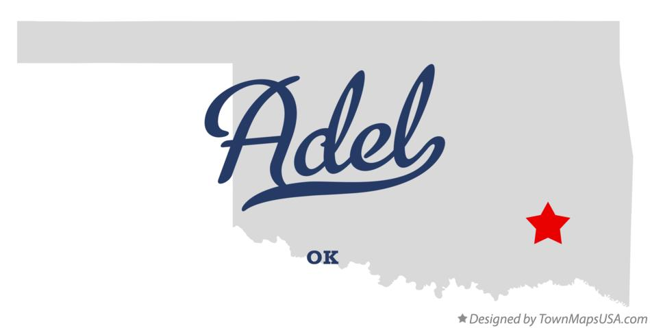 Map of Adel Oklahoma OK