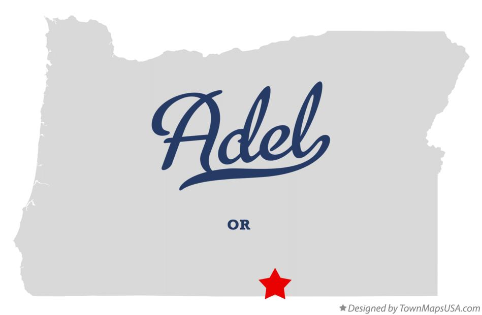 Map of Adel Oregon OR