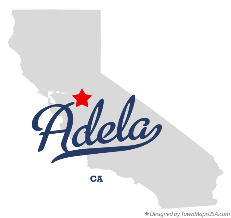 Map of Adela California CA