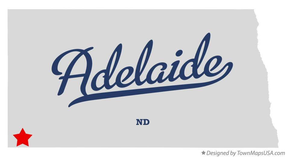 Map of Adelaide North Dakota ND