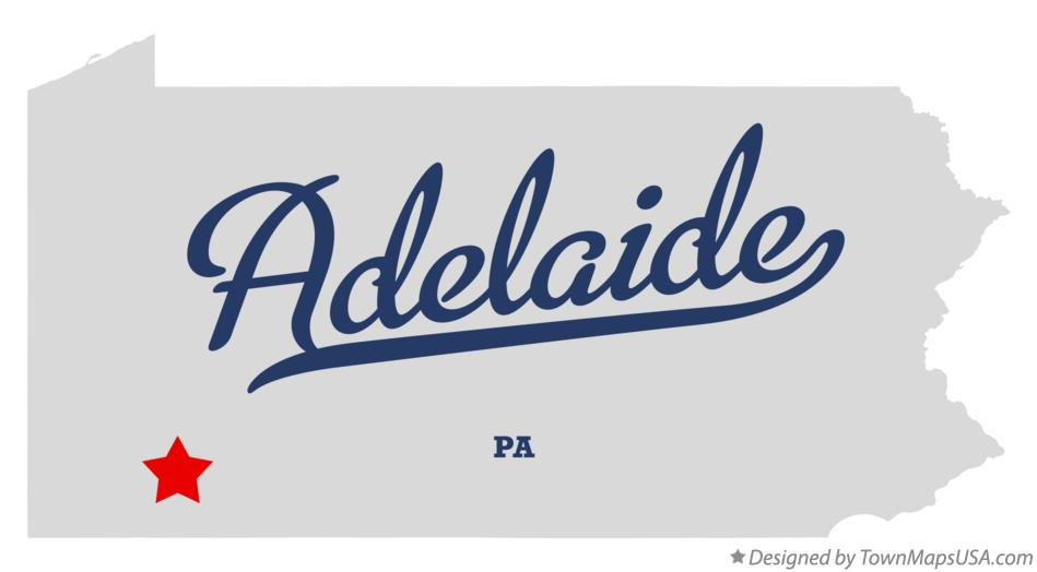 Map of Adelaide Pennsylvania PA
