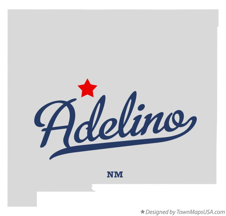 Map of Adelino New Mexico NM