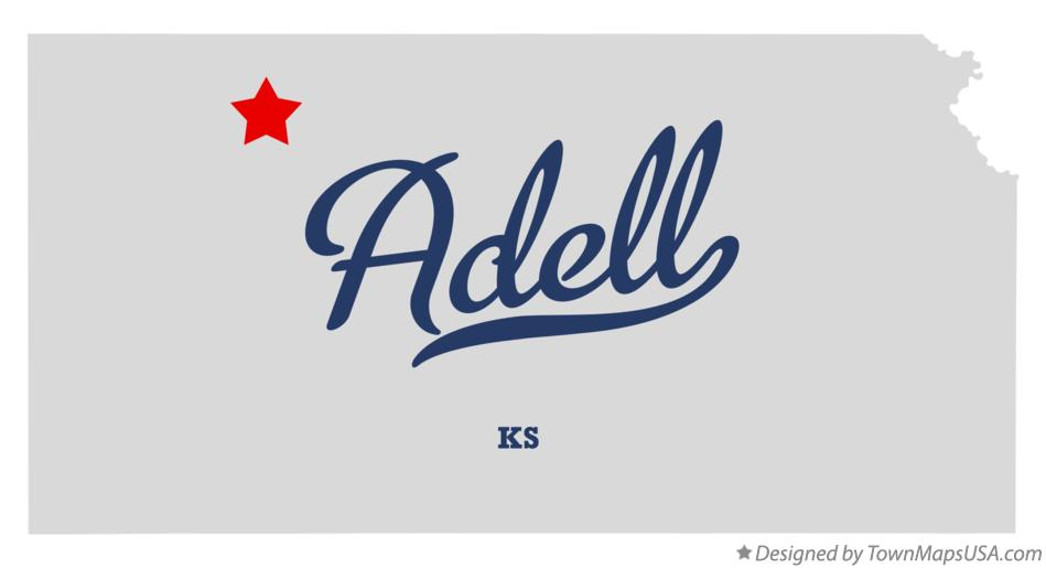 Map of Adell Kansas KS