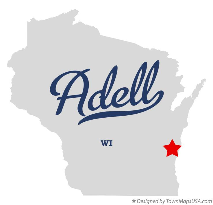 Map of Adell Wisconsin WI