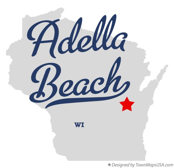 Map of Adella Beach Wisconsin WI