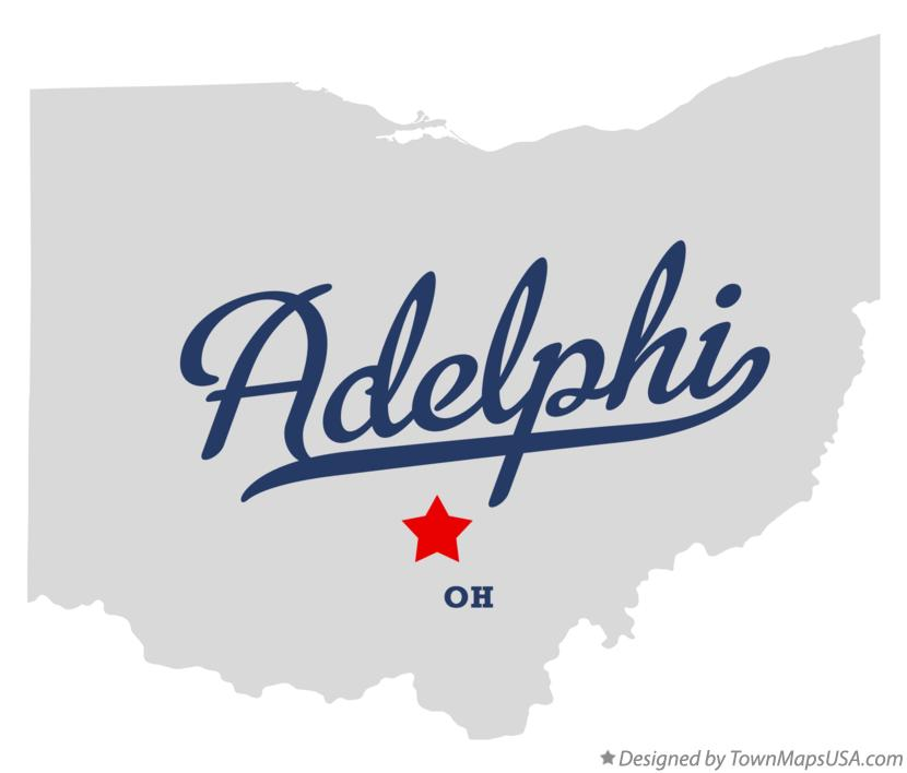 Map of Adelphi Ohio OH