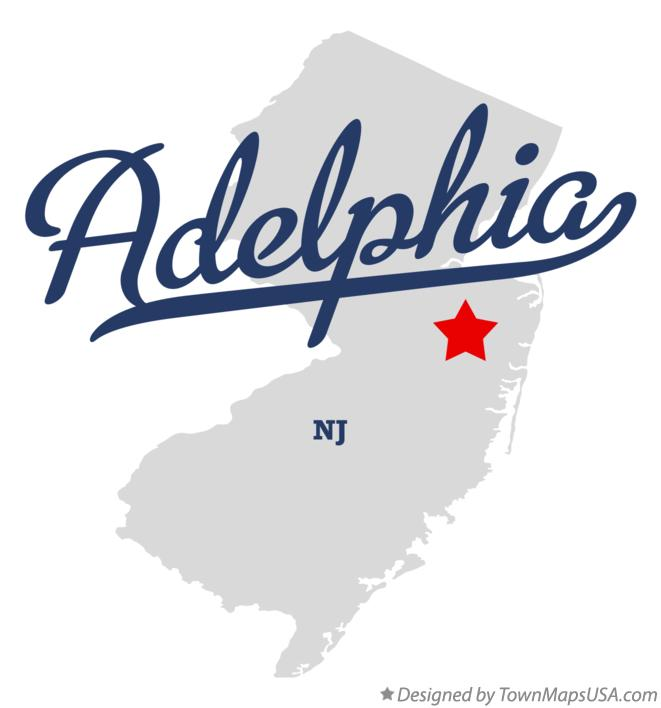 Map of Adelphia New Jersey NJ