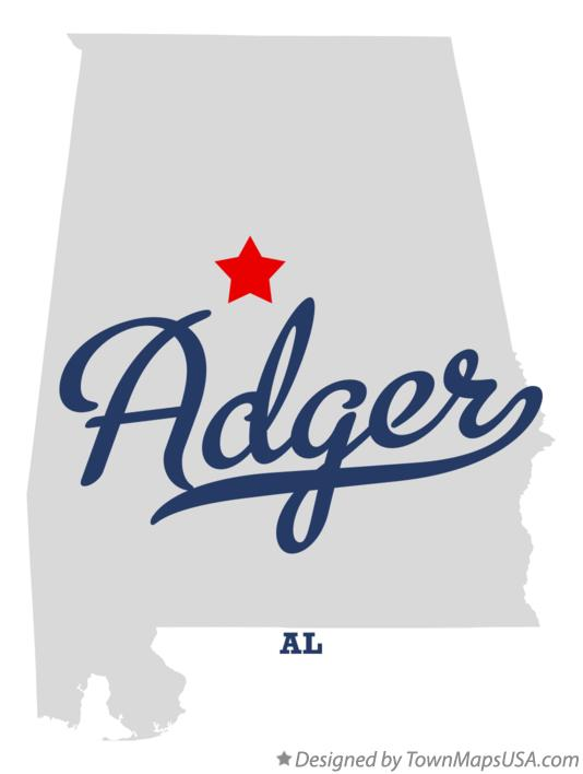 Map of Adger Alabama AL