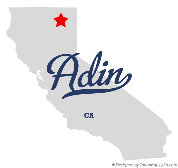 Map of Adin, CA, California