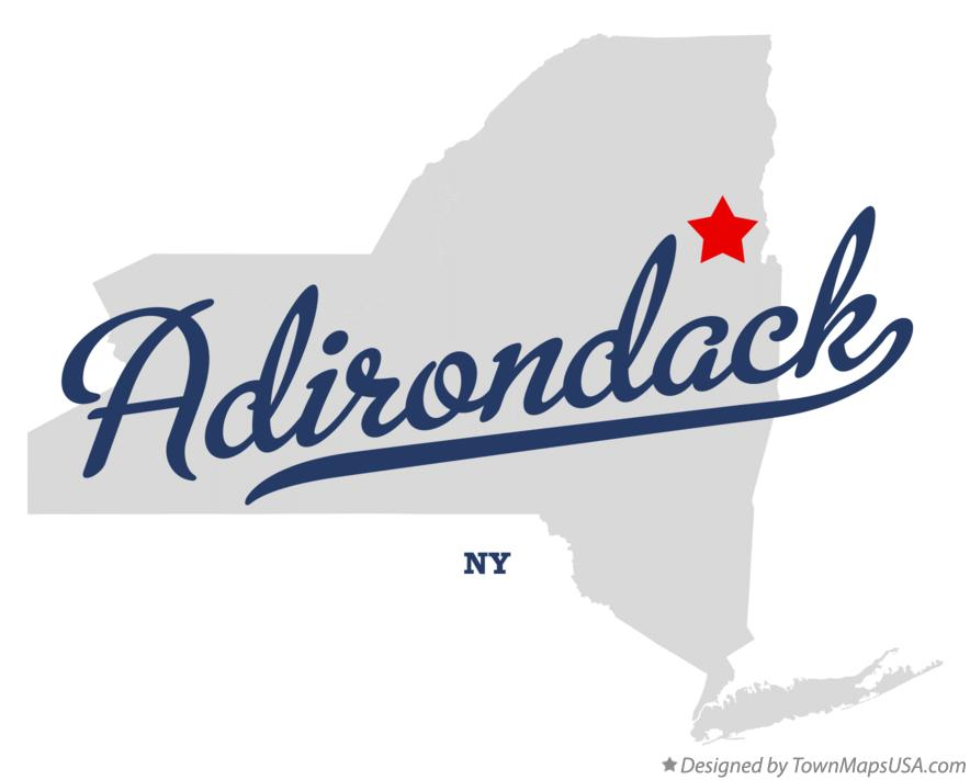 Map of Adirondack New York NY