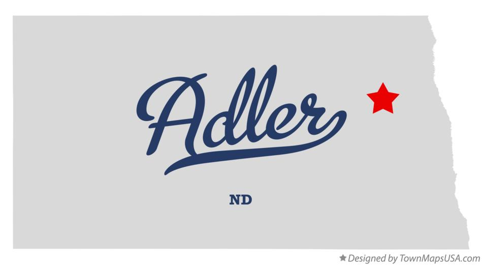 Map of Adler North Dakota ND