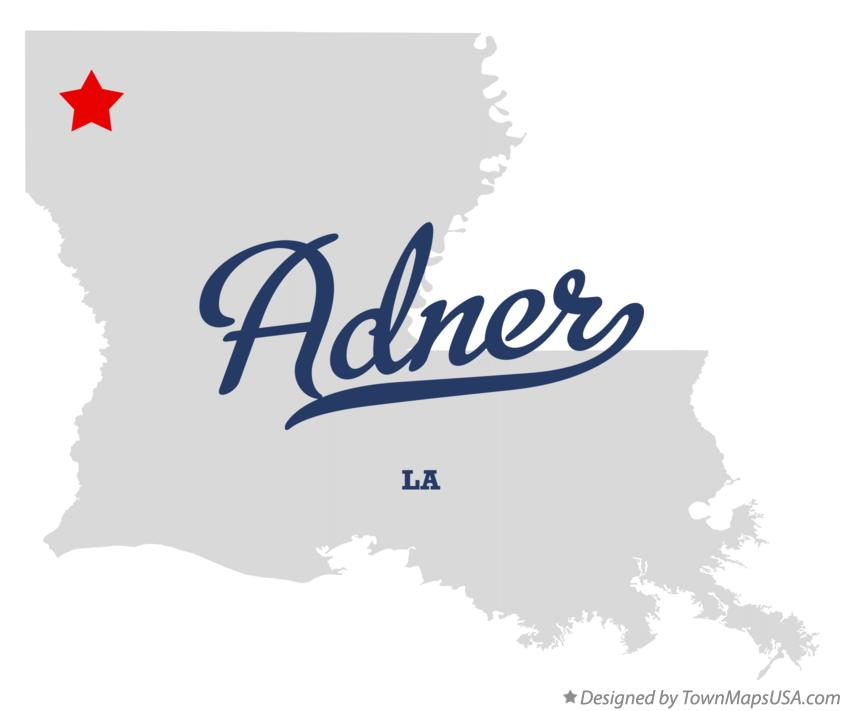 Map of Adner Louisiana LA